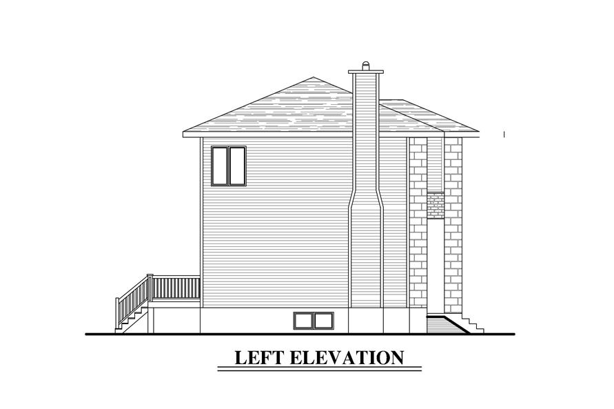 158-1278: Home Plan Left Elevation