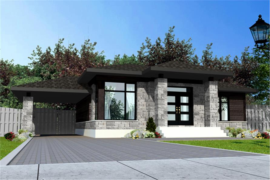 158-1279: Home Plan Rendering-Front Door