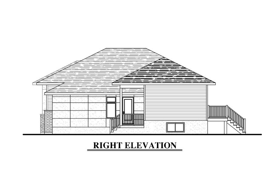 158-1283: Home Plan Right Elevation