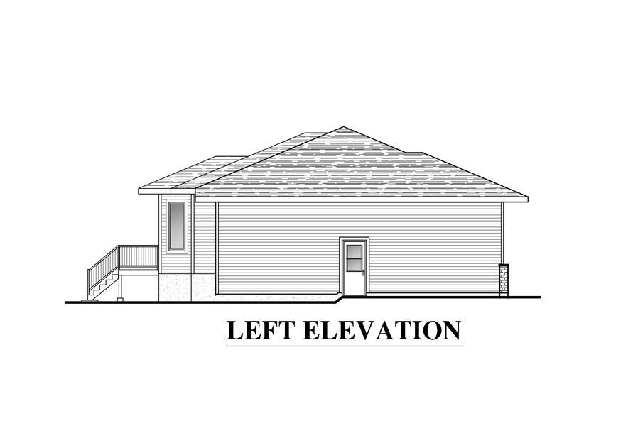 158-1285: Home Plan Left Elevation