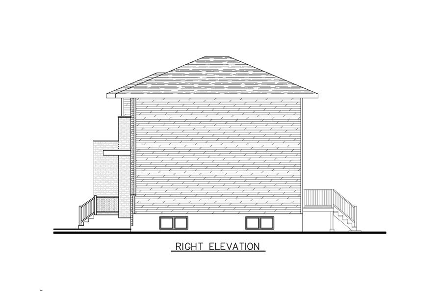 158-1286: Home Plan Right Elevation