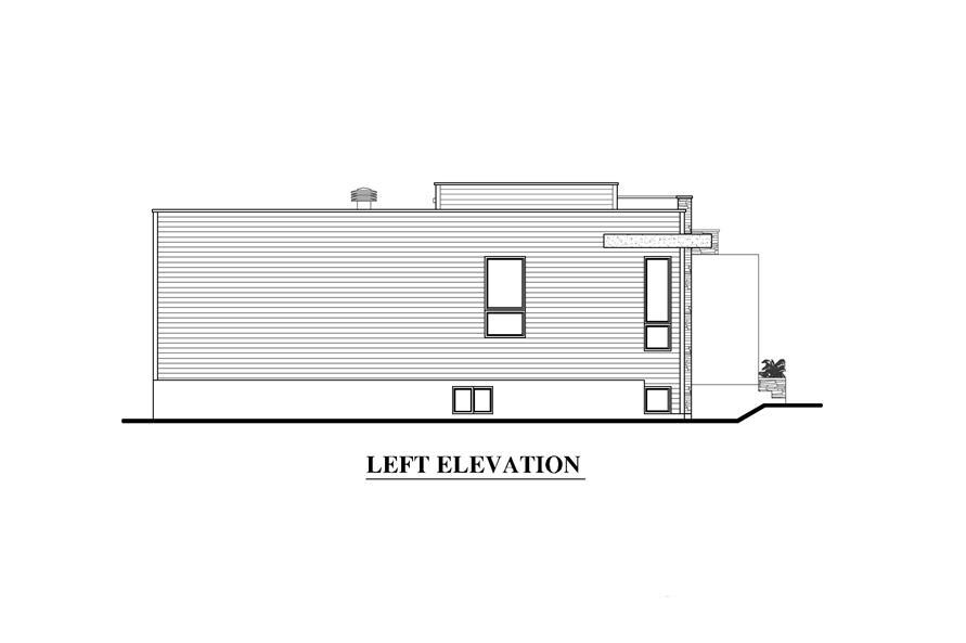 158-1290: Home Plan Left Elevation