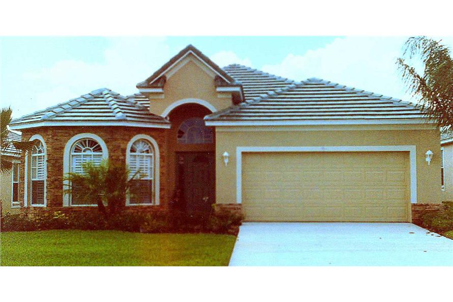 This is a color photo for these Traditional House Plans.