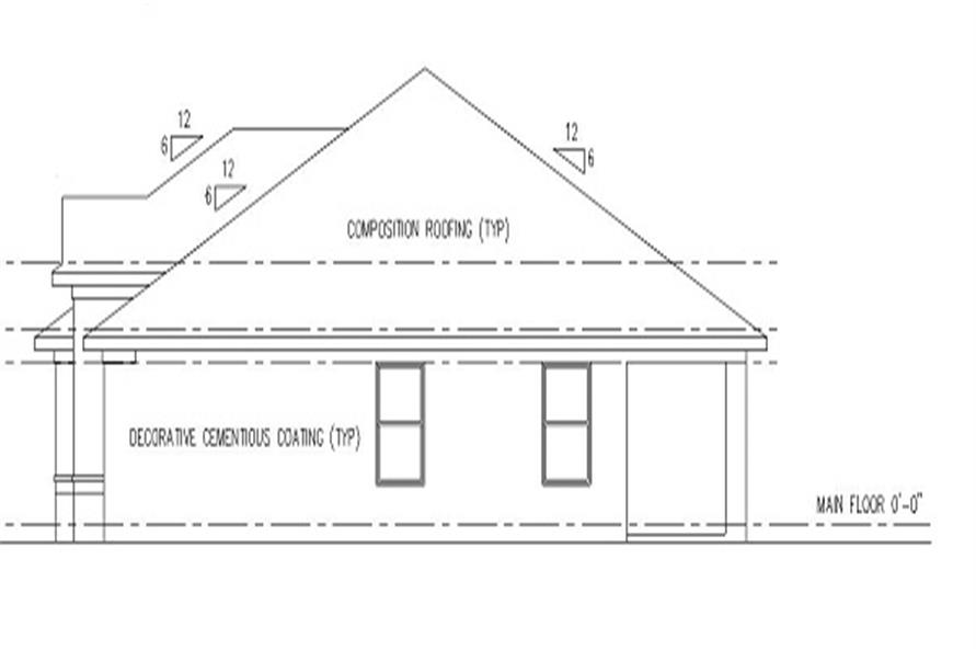 159-1063: Home Plan Right Elevation