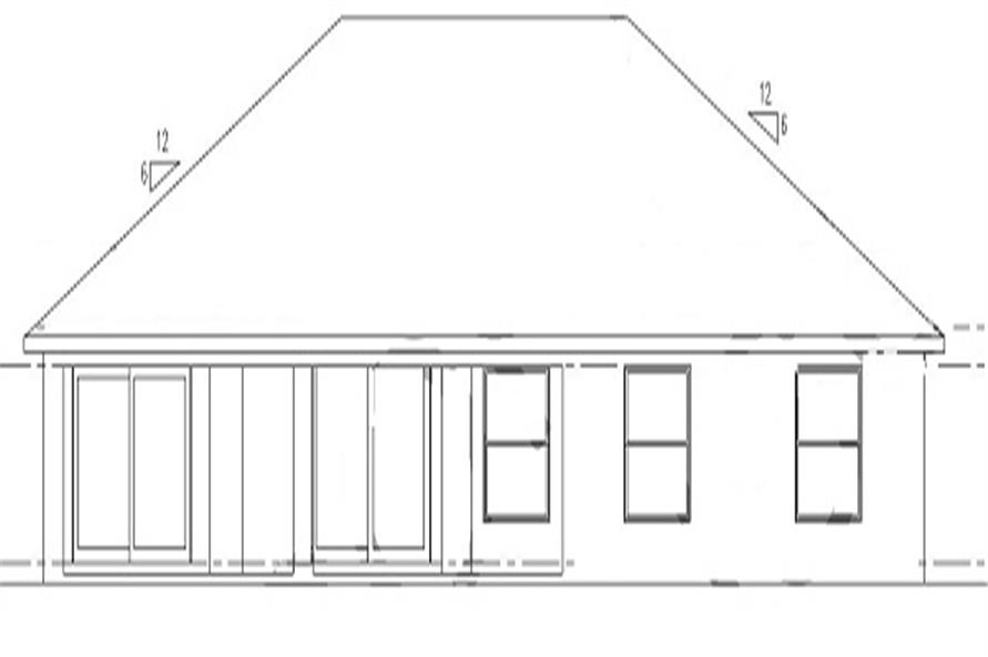 159-1063: Home Plan Rear Elevation