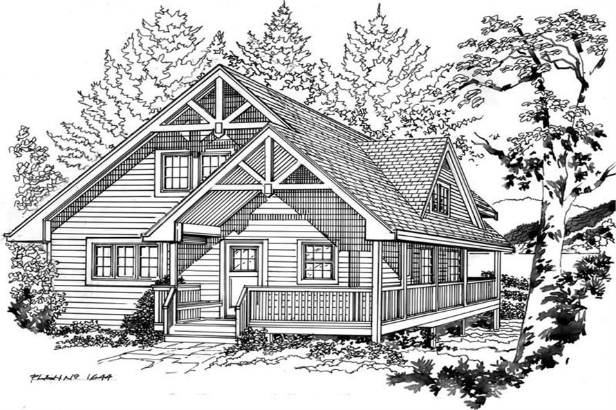 House Plan RS-1644 Line Drawing