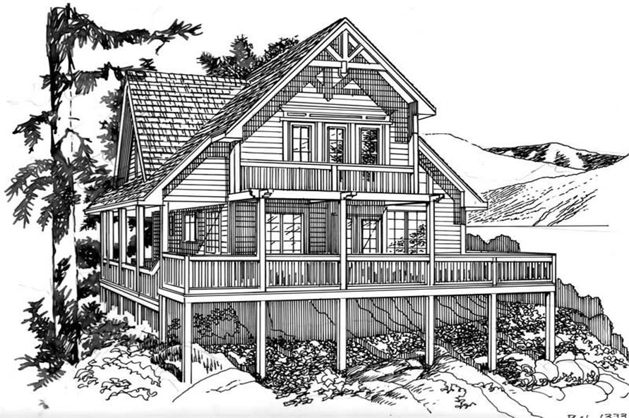 House Plan RS-1333 Line Drawing