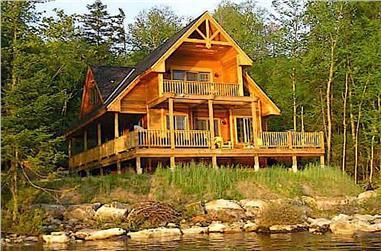 3-Bedroom, 1370 Sq Ft Log Cabin Home - Plan #160-1015 - Main Exterior