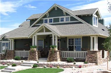 4-Bedroom, 3339 Sq Ft Arts and Crafts House - Plan #161-1001 - Front Exterior