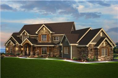 5-Bedroom, 5164 Sq Ft Country Home - Plan #161-1003 - Main Exterior