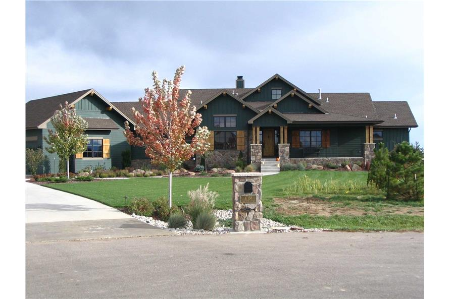 This is a colored photo of these great Craftsman Houseplans.