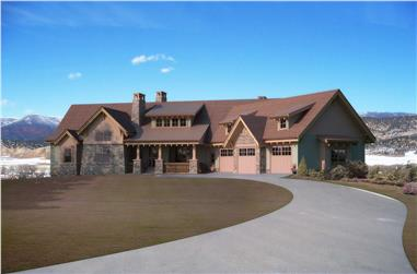 5-Bedroom, 5723 Sq Ft Country Home Plan - 161-1031 - Main Exterior