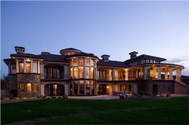 4-Bedroom, 7805 Sq Ft Luxury Home Plan - 161-1034 - Main Exterior