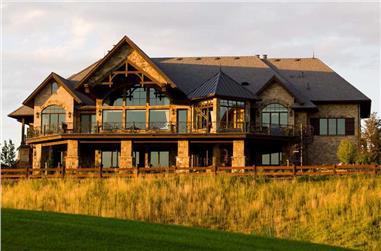 3-Bedroom, 6863 Sq Ft Craftsman Home Plan - 161-1040 - Main Exterior