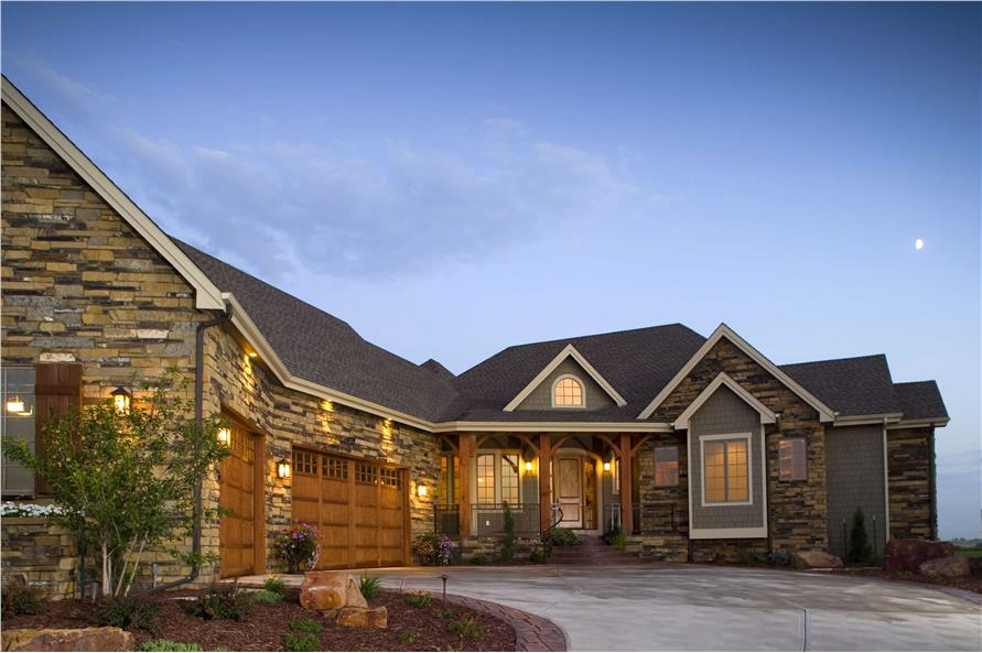 Photograph of Luxury Craftsman House Plan #161-1042.