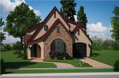 2-Bedroom, 1874 Sq Ft Bungalow House Plan - 161-1050 - Front Exterior