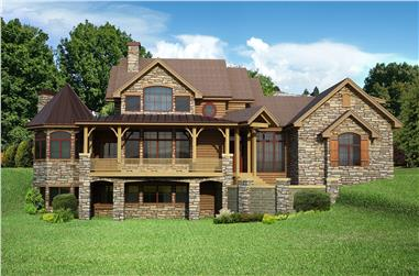 4-Bedroom, 4410 Sq Ft Craftsman Home Plan - 161-1057 - Main Exterior