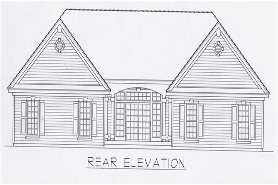 House Plan RDI-1809R1-B Rear Elevation