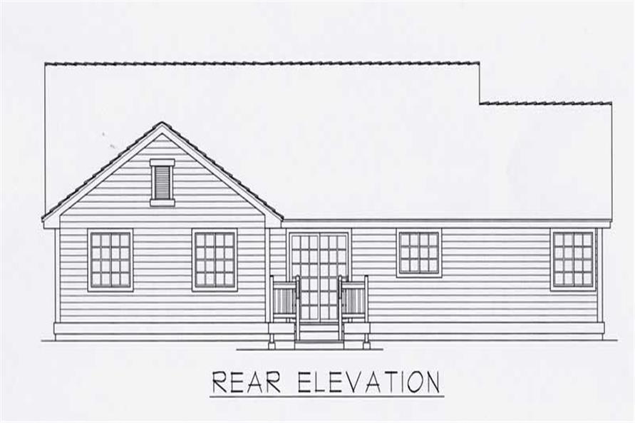 House Plan RDI-1497R1-B Rear Elevation