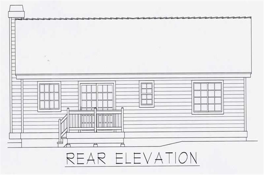 House Plan RDI-1080R1-B Rear Elevation