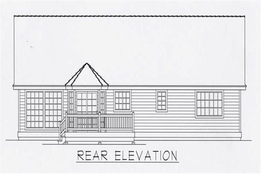 House Plan RDI-1512R1-B Rear Elevation