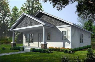 2-Bedroom, 1200 Sq Ft Bungalow Home Plan - 162-1015 - Main Exterior