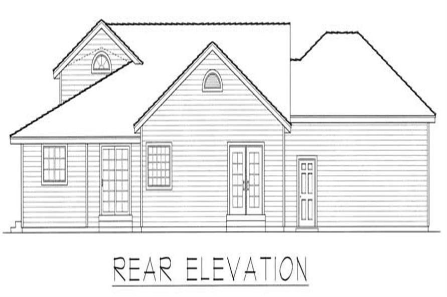 House Plan RDI-1515R1-B Rear Elevation