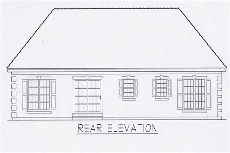 House Plan RDI-1626R1-B Rear Elevation