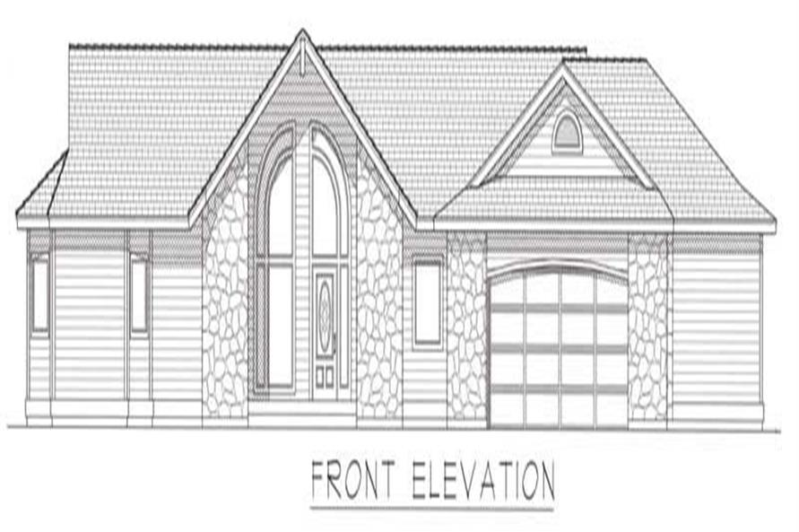 House Plan RDI-1899R1-DB Front Elevation