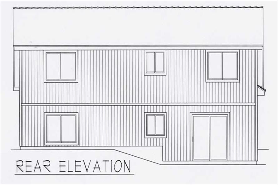 House Plan RDI-1097FL1-C Rear Elevation
