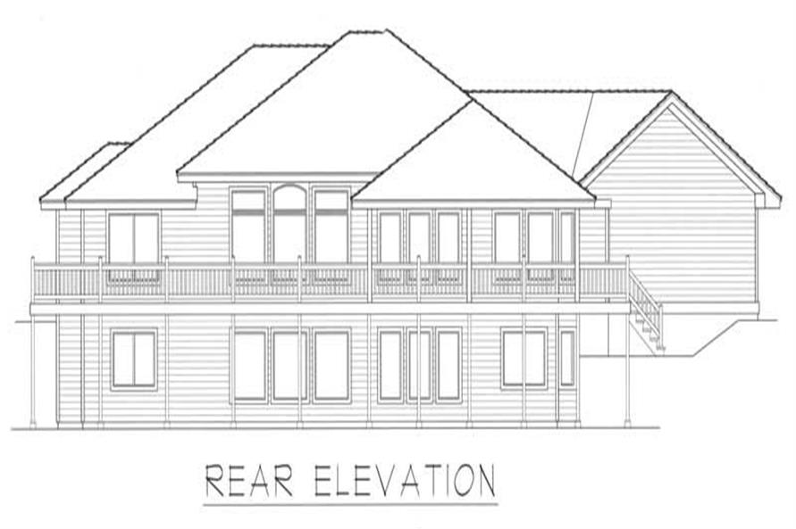House Plan RDI-2132R1-DB Rear Elevation