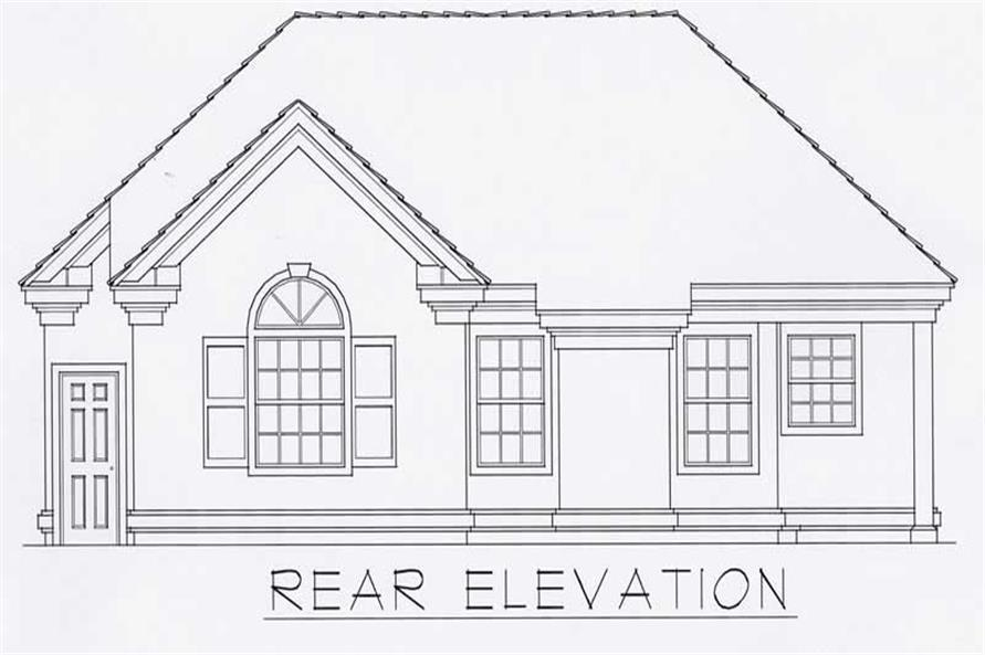 House Plan RDI-1150R1-B Rear Elevation