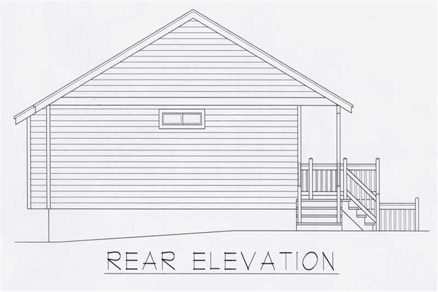 House Plan RDI-1104R1-B Rear Elevation