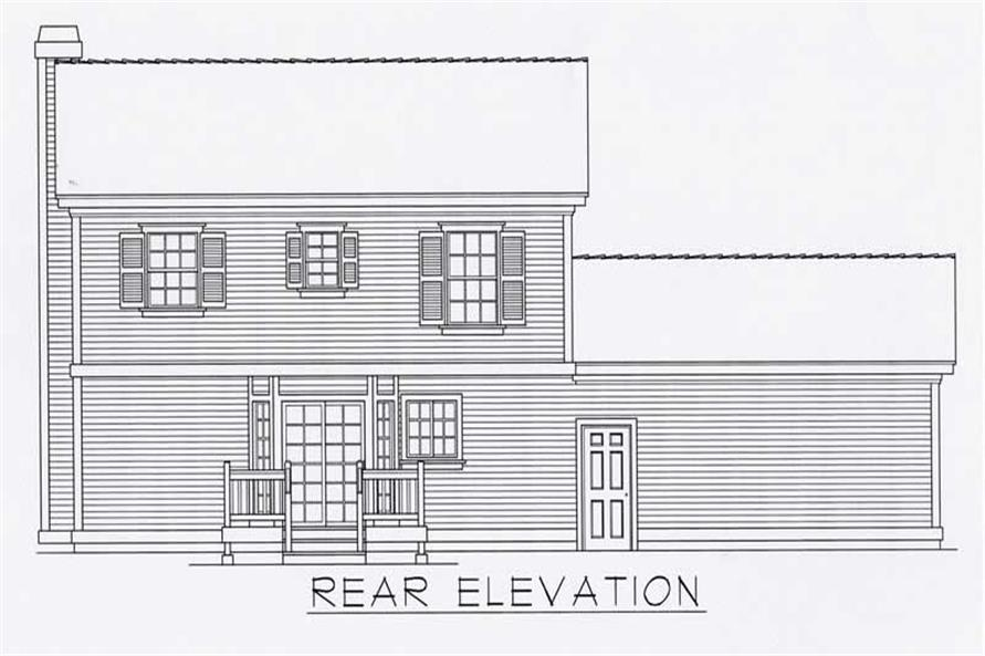 House Plan RDI-1439TS1-B Rear Elevation