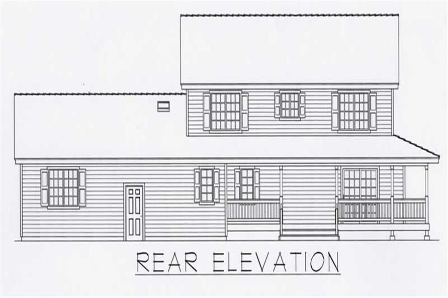 House Plan RDI-2218TRS1-B Rear Elevation