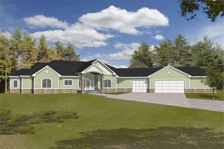 Main image for house plan # 19115
