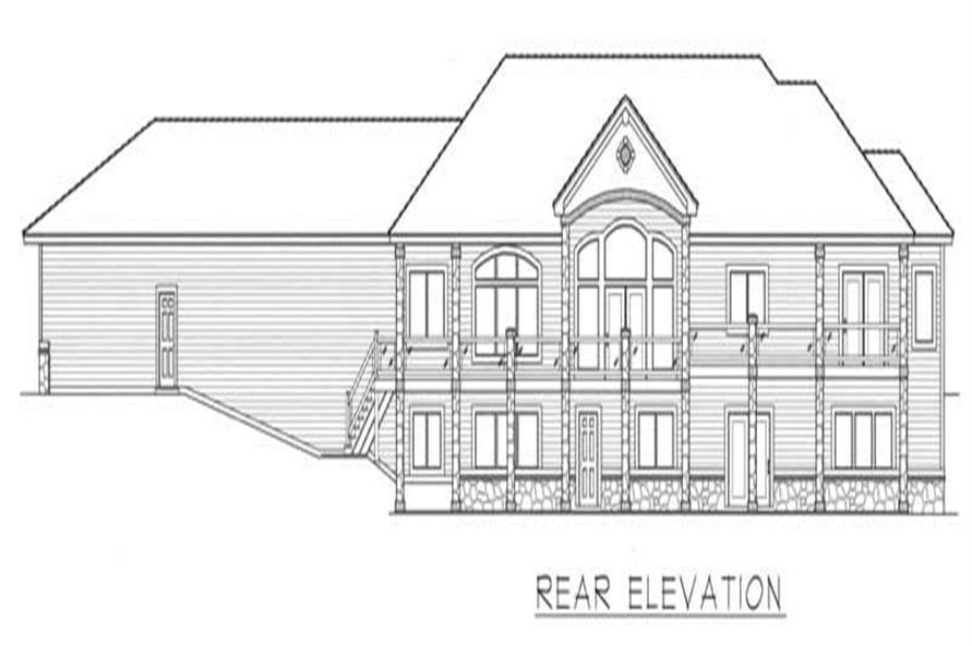 House Plan RDI-2907R1-DB Rear Elevation