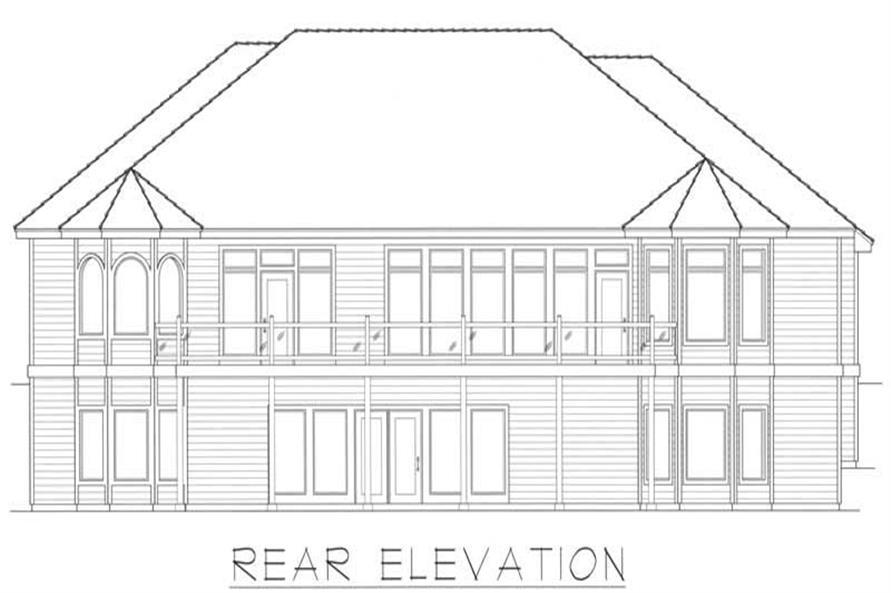 House Plan RDI-2485R1-DB Rear Elevation