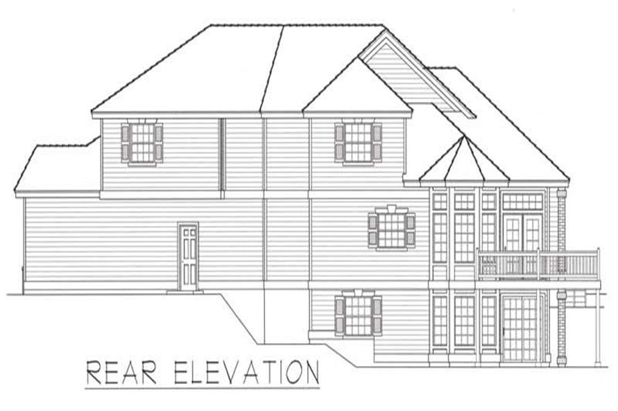 House Plan RDI-2435TS1-DB Rear Elevation