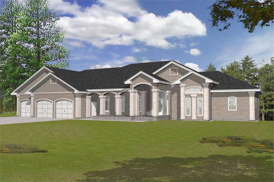 Main image for house plan # 19023