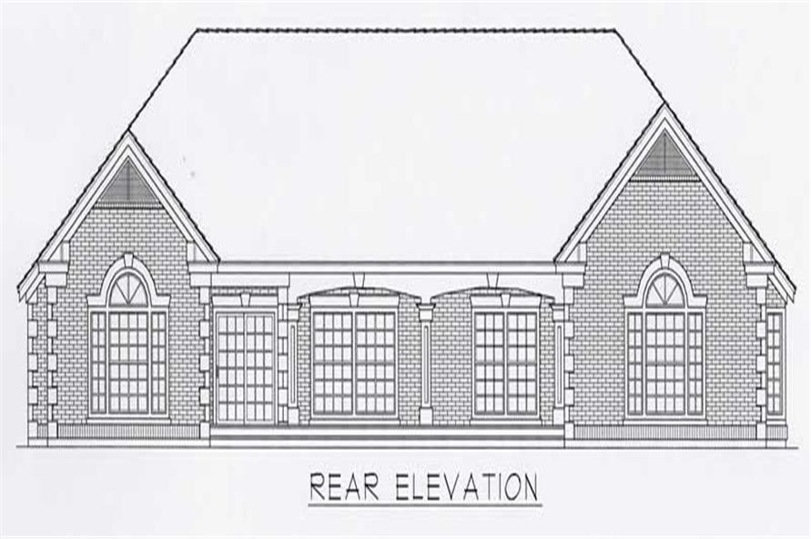 House Plan RDI-2737R1-B Rear Elevation