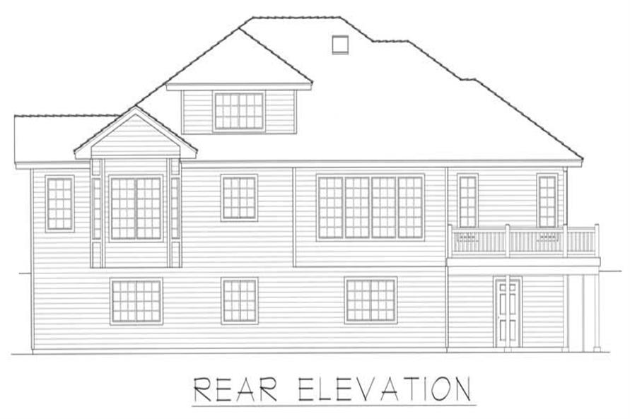 House Plan RDI-2740TS1-DB Rear Elevation
