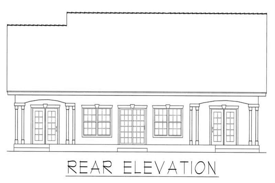 House Plan RDI-2166R1-B Rear Elevation