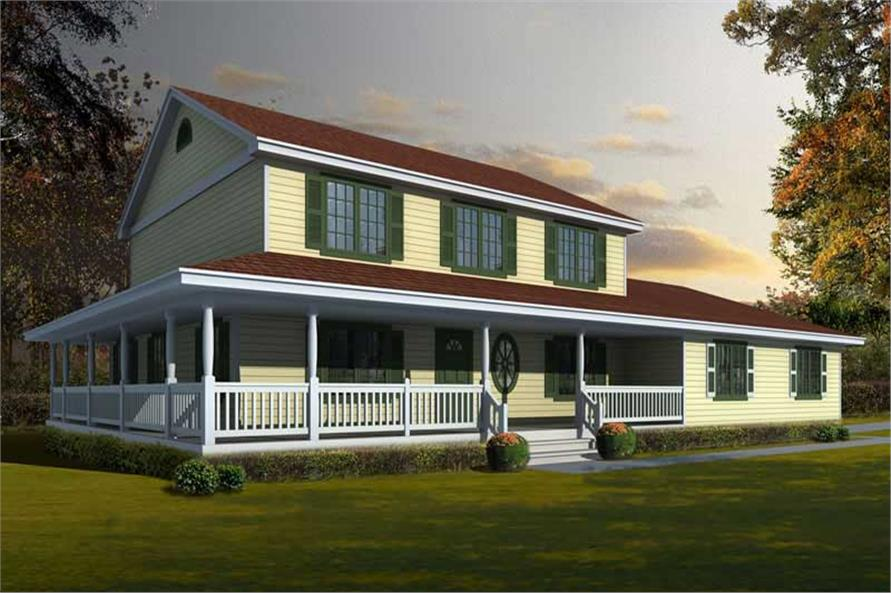 Main image for house plan # 19553