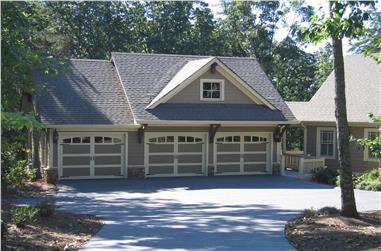1-Bedroom, 679 Sq Ft Garage with Apartment Plan - 163-1012 - Main Exterior