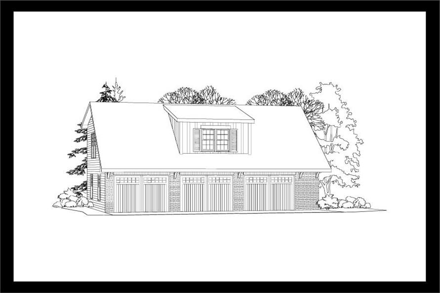 This is a 3D elevation of these Garage Plans.