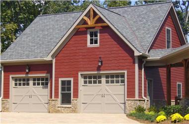 1-Bedroom, 906 Sq Ft Garage w/Apartments Home - Plan #163-1041 - Main Exterior
