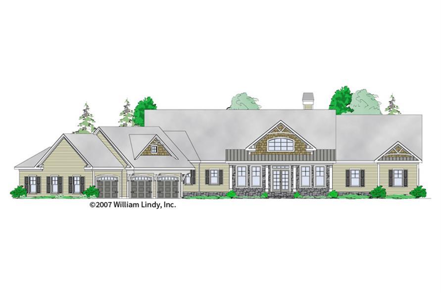163-1055: Home Plan Rendering-Front Door