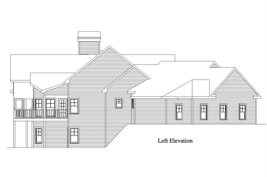 163-1055: Home Plan Left Elevation