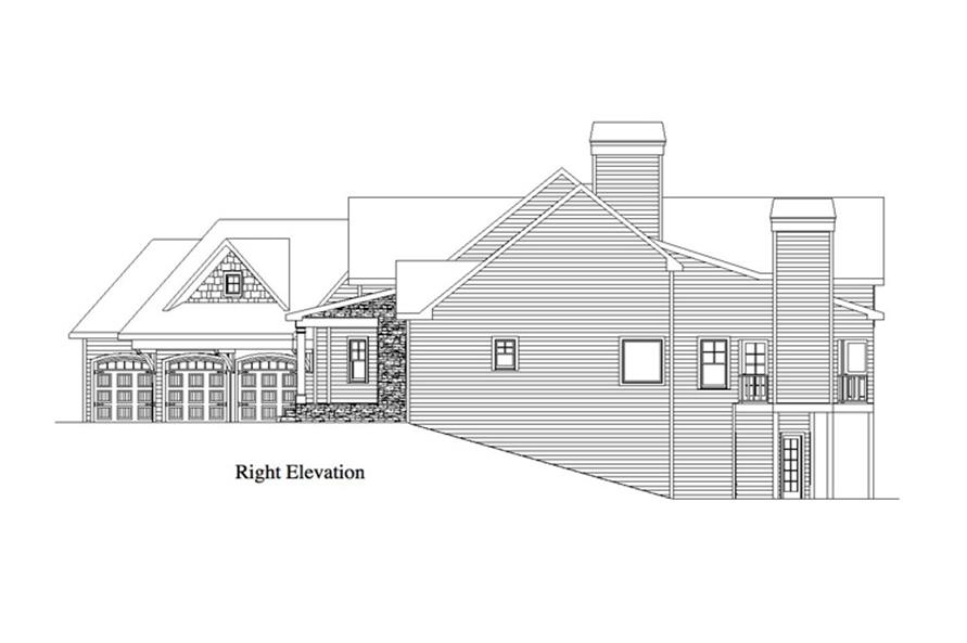 163-1055: Home Plan Right Elevation